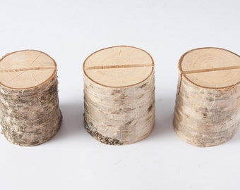 10 Rustic Place Card Holders, table number holder, birch wedding table decor, rustic wedding number holder,woodland  wedding centerpiece