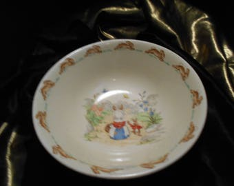 Early 1940'S Vintage ROYAL DOULTON BUNNYKINS Cereal Bowl 6 inch Sign