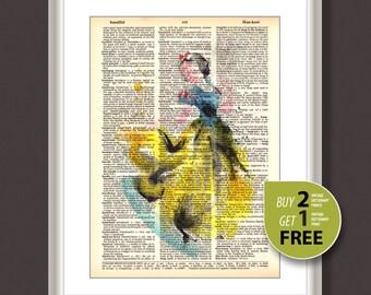 Dictionary Art Print, Disney Snow White vintage print, Disney Princess Snow White distionary print, Disney wall art, Nursery art, 3668