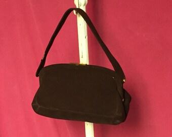 Bienen Davis Purse, Brown Suede, Leather Handbag