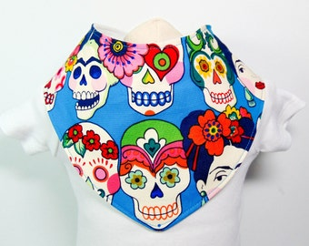 Bandana Bib Blue Frida Khalo READY TO SHIP