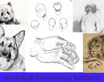 12 Vintage Drawing Books - Learn How to Draw
