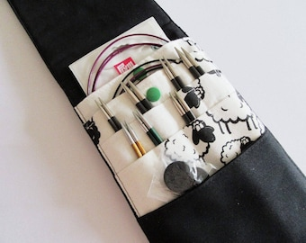 NMS-004-1 Knitting Needlecase, Interchangeable, Needleorganizer, knitting, crochet, stricken, häkeln, Nadelmappe, Nadeltasche, Schaf, sheep