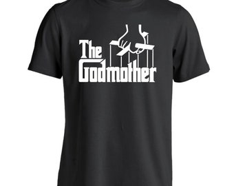The Godmother Funny Newborn Baby Baptism Gift Shirt Basic Men's T-Shirt DT0822