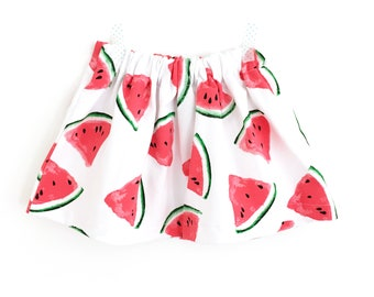 Watermelon - girl and baby jersey skirt