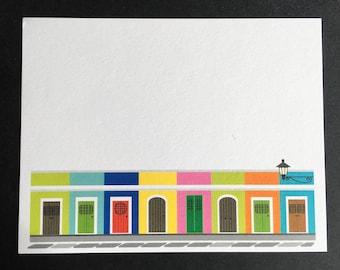 Puerto Rico, Viejo San Juan cards, Old San Juan flat cards, set of 8