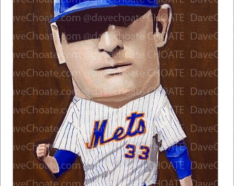 Matt Harvey, New York Mets Art Photo Print