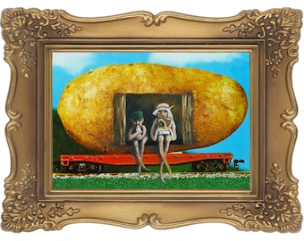 The Potato Train- Signed and Numbered Giclee Print - Edition Limited to 50 - Unframed