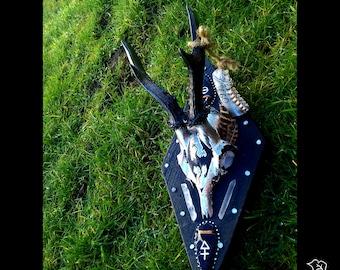Skyrim, Hand painted roe skull