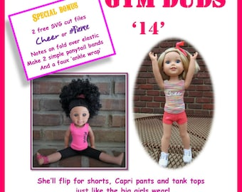 """Gym Duds Pattern for 14 1/2"""" dolls  such as the American Wellington boot girl"""
