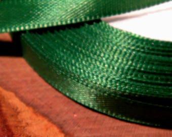 22 M 6 mm reel - SA1 grass green satin ribbon