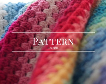 The Rainbow Granny Stripe- an easy crochet blanket pattern