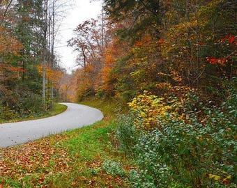Une ballade en montagne couleur automne Art impression bureau, Home Decor
