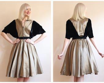 1950s Dress // Glimmer of the Eye Suzy Perette Dress // vintage 50s dress