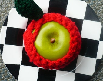 Red Apple Cozy Jackets - Hand Crocheted - Set of Three