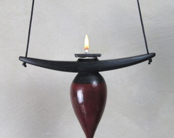Oil Lamp, Hanging Oil Lamp, Memorial, Urn, Burgundy