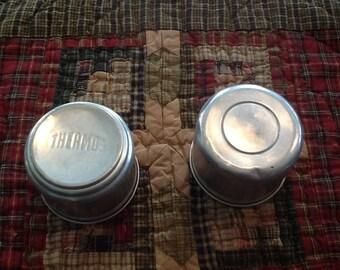 Vintage Aluminum Thermos Cup Lids