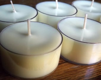 Citronella Soy Tea Light Candles - Set of 6 Scented Soy Tealights - Bug Repellent Candles - Lemongrass Candles - Citronella Scented