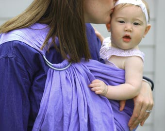 Bibetts Pure Linen Ring Sling Baby Carrier 'Wisteria' - CPSIA compliant -  Infant,