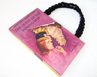 Nancy Drew Book Purse The Quest of the Missing Map Handbag Vintage Book Purse