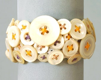 Mother of Pearl Button Bracelet