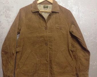 Oshkosh corduroy jacket / vintage / 90s / floral lining / oshkosh classic / medium