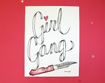 Girl Gang Print by Aurora Lady