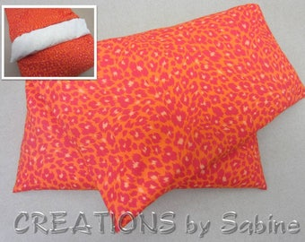 Corn Pillow Heating Pad Microwavable Pack Washable Cover Therapy Orange Leopard Animal Print Bright Color Heat Therapy READY TO SHIP (355)