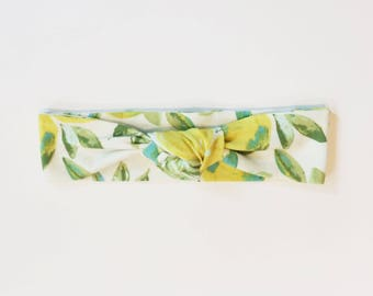 Lemon Top Knot Headband| Knotted headband / Baby headband / Toddler headband / Newborn headband / Kids headband / Adult headband