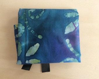 Blue and Purple Batik Tarot Wrap - 100% cotton, spread cloth, divination cloth