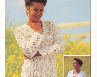 CROCHET Lady's Cardigans - Loweth Crochet Pattern - Original Crochet Pattern