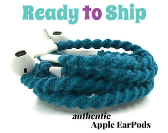 Wrapped Headphones for iPhone, Handmade iPhone Headphones, Design Earbuds, Custom Headphones, iPhone EarPods Tangle Free Earbuds LYRIC
