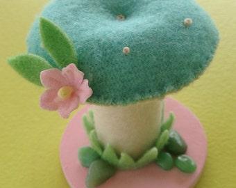 Fairy Perch Mushroom Pincushion