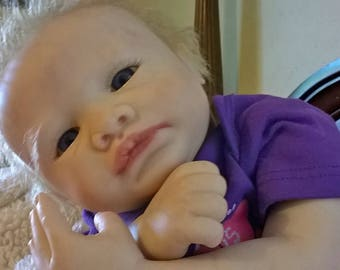 100.00 OFF for Father's Day Reborn Baby Violet, by Marissa May, by Artist Jeanne Marie of Jeannie Babies Nurseries