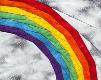 Rainbow paper-piecing quilt pattern PDF