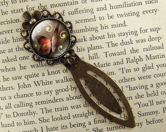 Butterfly Bookmark, Brown, Butterfly Gift, Small Gift, Book Mark, Bronze Clip Bookmark, Antiqued, Gift for Book Lover, Book Accessories