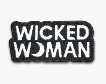 Wicked Woman Chenille Sew-On Patch