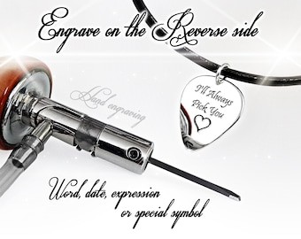 I'll always pick you Engagement gift Gift for boyfriend Silver pendant Personalized gifts Gifts for sister Love sign Guitar pick necklace