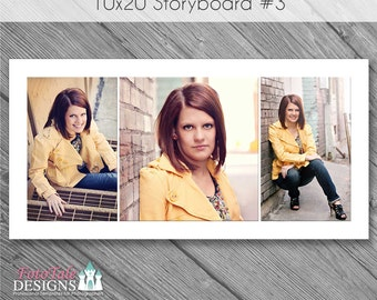 INSTANT DOWNLOAD - 10x20 Storyboard Collage 3 - custom 10x20 photo collage/storyboard template for photographers