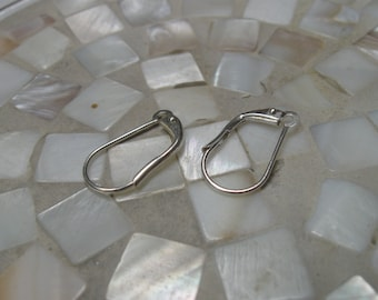 Changeable lever back earwires silver plate 3 pair 18mm