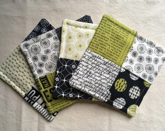 Set of 4 fabric coasters