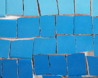 Ceramic Mosaic Tiles - Ombre Shades Of Blue Mosaic Tile Pieces Shades Of Blue Tiles - 40 Pieces - For Mosaic Art / Mixed Media Art
