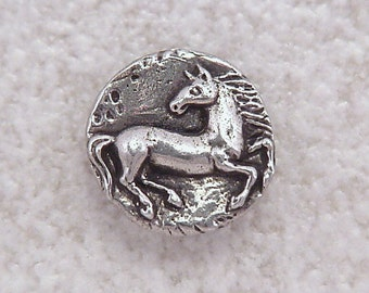 Green Girl Studios Pewter Horse Button