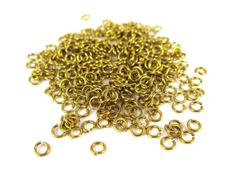 Raw Brass 4mm Round Jump Rings - 12 grams (approximately 300x) (20 gauge) K852-A