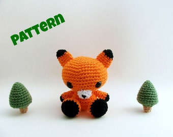 Amigurumi Fox Pattern, Crochet Fox Pattern, Crochet Woodland Animal Pattern, Aamigurumi Animal Pattern, Crochet Pattern, Amigurumi Pattern