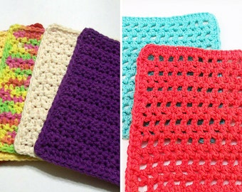 Dishcloth Pattern Bundle, Crochet Pattern, Instant Download PDF, Textured Dishcloth, Mesh Dishcloth, Washcloth Pattern, Easy Crochet Pattern
