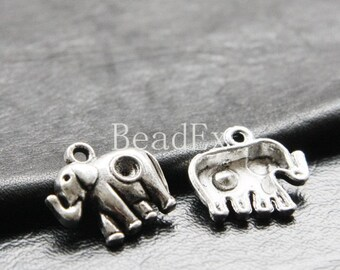 10pcs / Charm / Oxidized Silver / Base Metal / Elephant / 20x18mm (YA8835//C67)