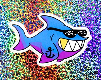 Cool Shark Sticker
