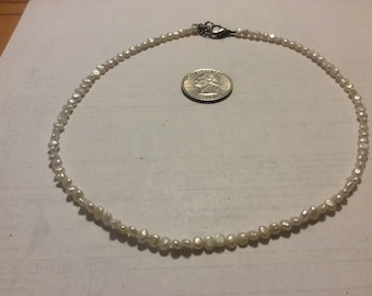 """Vintage small pearl 16"""" necklace"""