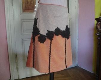 Applique Velvet Skirt